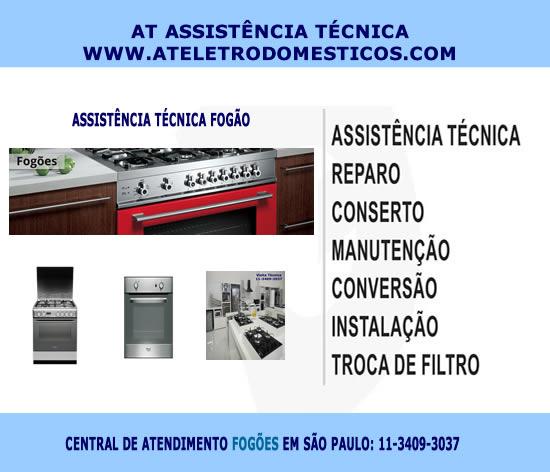 Assistência técnica fogão São Paulo