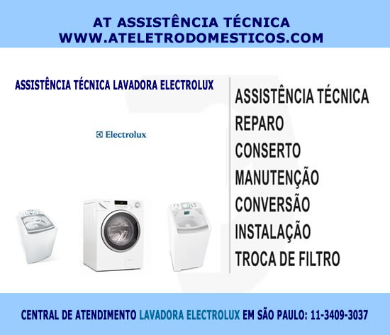 Assistência técnica lavadora Electrolux