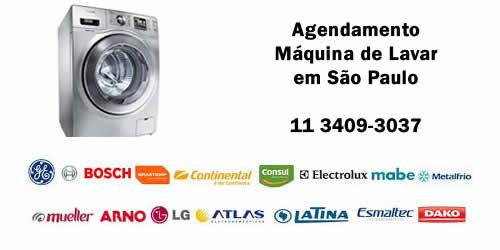 Agendamento máquina de lavar assistência técnica